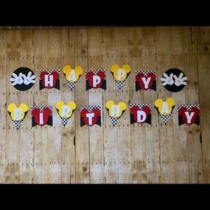 Mickey Mouse Custom handcrafted Birthday Banner